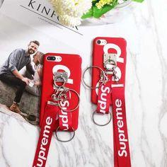 ストリート系 ブランド柄 SUPREME iphoneX ハードケース シュプリーム 個性 iphone8plus 携帯カバー アイホン7 スマホケース ペア ストラップ/チェーン付き 芸能人愛用 おしゃれ