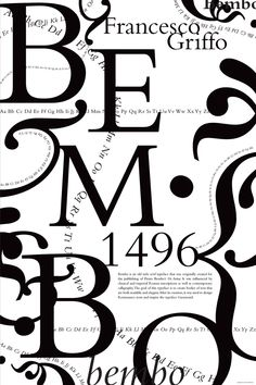 For this poster, I researched the history of the typeface, Bembo, and created a composition reflecting its personality. All the shapes and textures are made from the typeface itself. Fashion Vector, History Posters, Serif Typeface, Typography Poster, Poster On, Behance, Letters, Graphic Design, Atelier
