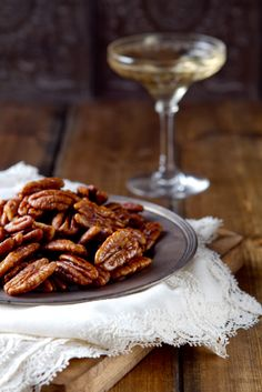 Bourbon Maple Pecans.. the secret to these slightly sweet, salty and ...