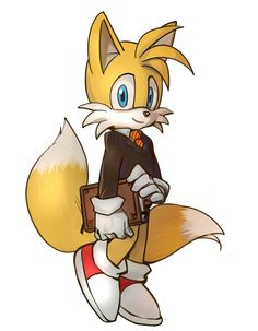 Tails in hogwarts' suit Tails Sonic The Hedgehog, Tails Doll, Sonic Dash, Classic Sonic, Silver The Hedgehog, Sonic Fan Characters, Fanart, Mario, Sonic Fan Art