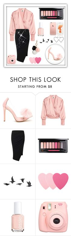 """""""Pink ♡"""" by anna-miller10 ❤ liked on Polyvore featuring Topshop Unique, Miss Selfridge, MAC Cosmetics, Jayson Home, Sephora Collection, Essie, Fujifilm and GUESS"""