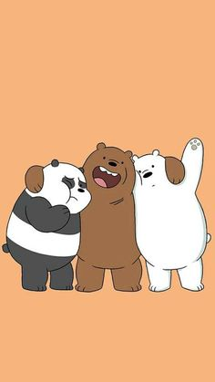 Pin Image by Girlnesia Bear Wallpaper, Kawaii Wallpaper, Cute Wallpaper Backgrounds, Wallpaper Iphone Cute, We Bare Bears Wallpapers, Panda Wallpapers, Cute Cartoon Wallpapers, Ice Bear We Bare Bears, We Bear