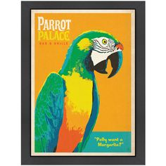 I pinned this Parrot Palace Framed Print from the Sojourn Style event at Joss and Main!