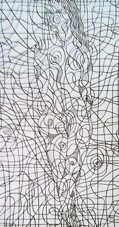 5. Vénus – 60X100 - Acrylique +laque Glycéro
