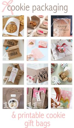 Free printable cookie gift bags along with some packaging ideas