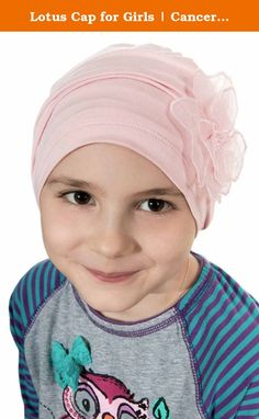 Lotus Cap for Girls | Cancer Hats for Kids, Children | Child Chemo Hat, Alopecia Luxury Bamboo - Cre. Our Lotus Cap for Girls provides total head coverage for girls with hair loss due to cancer, chemotherapy, alopecia, or other types of medical hair loss conditions. Gathering at the top of the beanie style cap gives the cap a secure fit with room to stretch, keeping it securely in place. It also gives this cap a rouched look for added interest. This beautiful cap looks great worn out and...