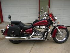 2005 Honda shadow Aero...am buying an 04 from a friend...has all the accessories shown plus more...I cant wait