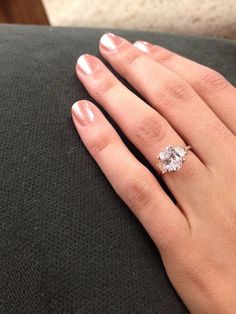 SO pretty! Rose gold engagement ring with oval diamond.