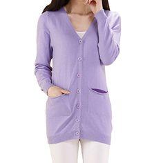 Partiss Damen Frauen V-Ausschnitt Casual Langarm Strickjacke Cardigan Pullover mit Knoepfen, Tag S,Light Purple Partiss http://www.amazon.de/dp/B01BW9SNKQ/ref=cm_sw_r_pi_dp_8fRXwb02AKFHF