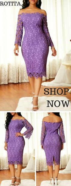 Long Sleeve Purple Off the Shoulder Dress.A really formal dress,just shop it,dress it to party or dating or wedding. African Men Fashion, Africa Fashion, African Fashion Dresses, African Women, Fashion Wear, Look Fashion, Fashion Outfits, Fashion Design, Fashion 101