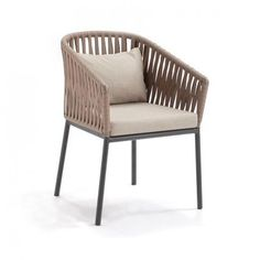 Bitta Braided Modern Outdoor Dining Chair