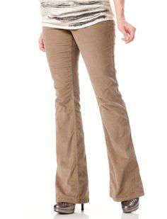 Motherhood Maternity: Indigo Blue Secret Fit Belly(tm) Corduroy 5 Pocket Skinny Boot Maternity Pants