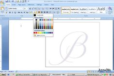 How to design your own monogram on Microsoft Word