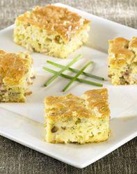 Minicake van bloemkool en spek