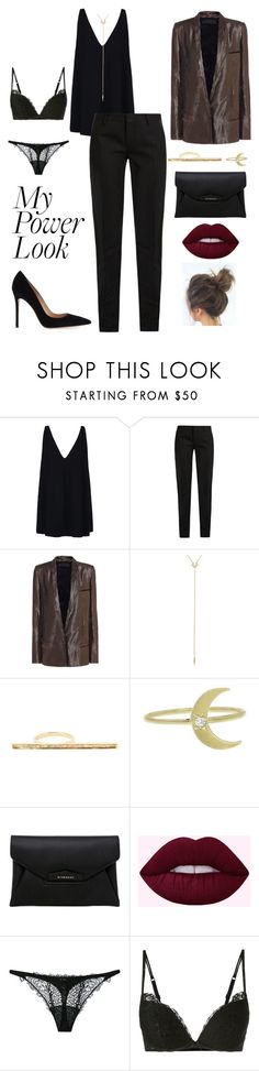 """My Power Look"" by k-zaldi ❤ liked on Polyvore featuring STELLA McCARTNEY, Yves Saint Laurent, Haider Ackermann, Celine Daoust, Andrea Fohrman, Givenchy, La Perla and Gianvito Rossi"