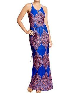 Women's Printed Jersey Maxi Dresses