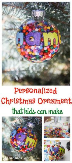 Check out these fun personalized Christmas Ornaments! Prefect family activity for a cold winter's night!