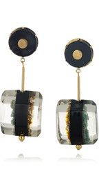 MARNI  Resin, horn and semi-precious stone clip earrings  $400