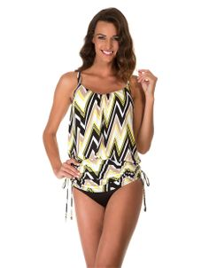 Women's Apparel   Fast & Fab!: 25% - 50% Off All Swimwear   Shockwave Shelly Tankini Top   Lord and Taylor