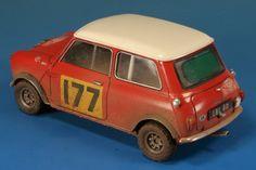 Morris Mini Cooper S Mk. I Monte Carlo Wally Winner 1/24 Scale Model