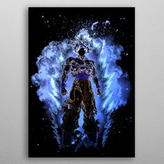 Soul of the Ultra Instinct Anime & Manga Metal Print. Inspired by DBS metal poster. Poster Wall, Poster Prints, Art Prints, Posters, Pilot Gifts, Poster Making, New Artists, Game Character, Cool Artwork