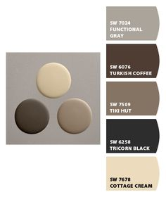 Paint colors from Chip It! by Sherwin-Williams Exterior Color Schemes, Exterior Paint Colors For House, Interior Paint Colors, Paint Colors For Home, Outdoor Paint Colors, Deck Colors, Brown Paint Colors, Shutter Colors, Pintura Exterior