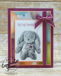 Looking for a bunny that everyone simply wants to cuddle? Look no further, you've found it with the Sweet Little Something Stamp Set! Today I am sharing a snugly birthday card that is perfect for a child's birthday. Don't you love how realistic the stamped bunny looks?