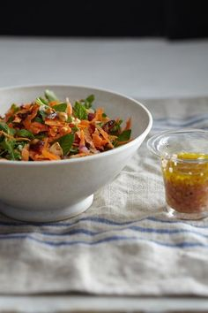 Carrot salad with mint and dates.