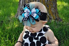 Girls Valentines Day Hairbow Fun polkadot by ChelseaRoseBaby, $5.50