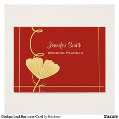 Ginkgo Leaf Business Card Cards Visit Carte De Visite