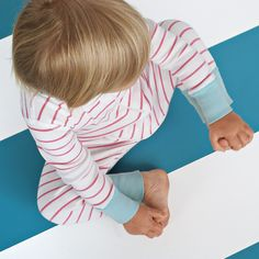 hanna andersson baby sleeper in strawberry stripe from serena & lily
