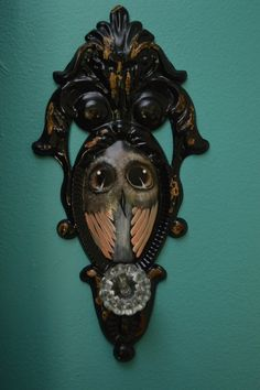 Hand painted owl on a home wall decor- Annelies Cahill