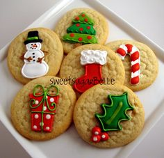 Store bought decorated sugar cookies - great idea if you dont have the time~