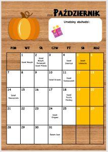 Kalendarz przedszkolaka 2019/2020 - Pani Monia Grid, Calendar, Cleaning, Organization, Website, School, Youtube, Getting Organized, Organisation
