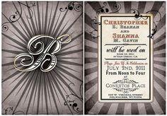 Vintage Invitation Sets www.Etsy.com