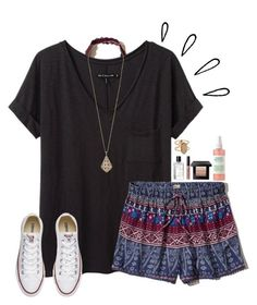 get~together by gabyleoni on Polyvore featuring polyvore, fashion, style, rag & bone/JEAN, Hollister Co., Converse, Kendra Scott, Bobbi Brown Cosmetics, Old Navy and clothing