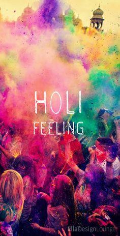 Holi feeling, great festival in India. The festival of colours.