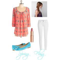 Spring fling by taylorn2000 on Polyvore featuring polyvore, fashion, style, Paige Denim, Stuart Weitzman, American Eagle Outfitters and Charlotte Tilbury