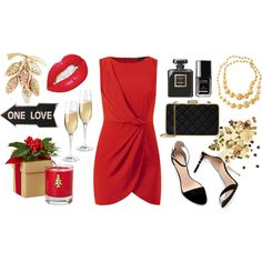 """#MarcoBicego #Necklace from #JRDunn """"#Christmas. Red"""" by anamarija-roxy-rock on Polyvore"""