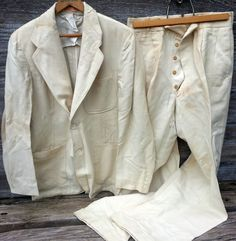 20s 30s Palm Beach Suit Belt Back Jacket On Fly Pants Vtg Coat