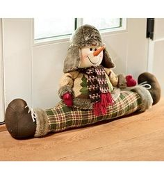 Snowman Draft Stopper With Winter Clothing by Plow \u0026 Hearth ://
