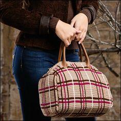 """Tunisian Meets Tartan Bag"" - Crochet! Magazine"