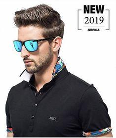 Men's Sunglasses, Wayfarer, Men's Hot Retro Metal Frame Driving Polarized Wayfarer Sunglasses Al-Mg Metal Frame Ultra Light - Blue - Summer Sunglasses, Wayfarer Sunglasses, Polarized Sunglasses, Mirrored Sunglasses, Vogue Men, Mens Glasses, Hot Guys, Light Blue, Retro