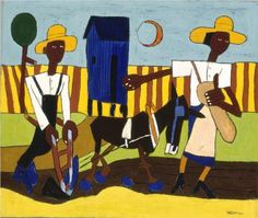 Sowing, 1940  - William H. Johnson http://www.wikipaintings.org/en/william-h-johnson/sowing-1940