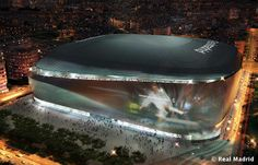 Image 1 of 8 from gallery of gmp Wins Bid to Redevelop Real Madrid's Bernabeu Stadium. Photograph by Real Madrid Real Madrid New Stadium, Real Madrid Football Club, Stadium Architecture, Landscape Architecture, Architecture Design, Spanish Architecture, Soccer Stadium, Football Stadiums, Football Soccer