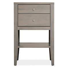 3 sizes Room & Board - Calvin 19w 18d 30h Two-Drawer Nightstand