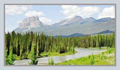 Castle Mountain, Alberta at the junction of Hwy 1 (TransCanada Hwy) and Hwy # 93 - the road to Radium, B.C.