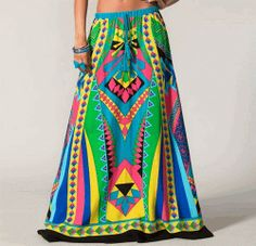 Boho Gypsy Skirt Blue por SabrinaFashionTrends en Etsy, $54.00