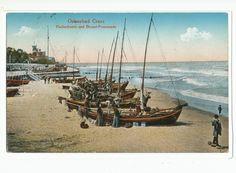 Cranz, Fischerboote und Strandpromenade