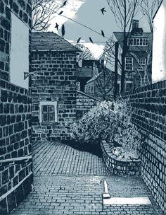 Courtyard in Leeds, Janis Goodman